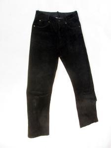 Kožené broušené kalhoty vel. 30 - pas: 74 cm