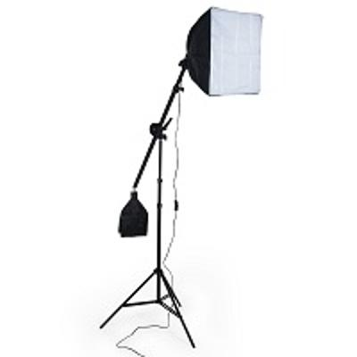 Petricard   Jeřábový stativ - Boom, softbox 40x40cm, fotolampa E27/55W