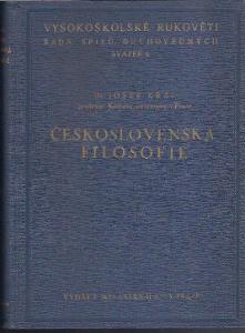 Josef Král - Československá filosofie 1937
