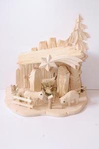 vánoční dřevěný betlem dřevořezba č.701085