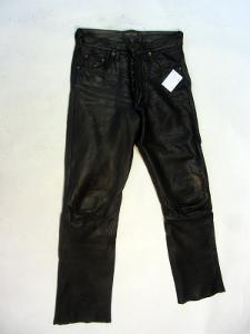 Kožené kalhoty PANTERA vel. 30 - pas: 76 cm