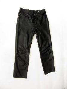 Kožené kalhoty  ROCK BLUE obvod pasu: 82 cm