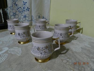 Luxusní růžový zlacený Hrnek Mušlák 1 kus HC Chodov Slavkov
