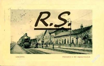 Galanta 1912 -  lokomotiva,  nádraží , /4203/