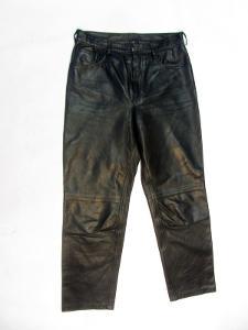 Kožené dámské kalhoty - obvod pasu: 76 cm (8649)