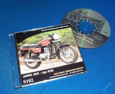 Servisní příručka návod katalog Jawa 350 typ 638