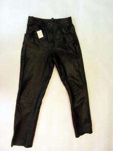 Kožené kalhoty vel. 35 -pas: 82 cm  silná kůže