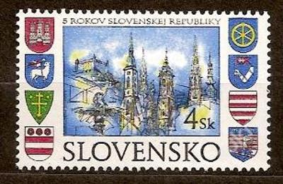 Slovensko 1998 kat.č.Mi300/Zb140