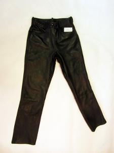 Kožené kalhoty vel. 38 obvod pasu: 72 cm -(7150)
