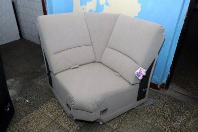 Sofa nerozkládací 100 x 100 cm, mikroplyš (6043)