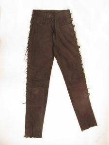 Kožené šněrovací kalhoty POLO vel.XS -pas:66cm