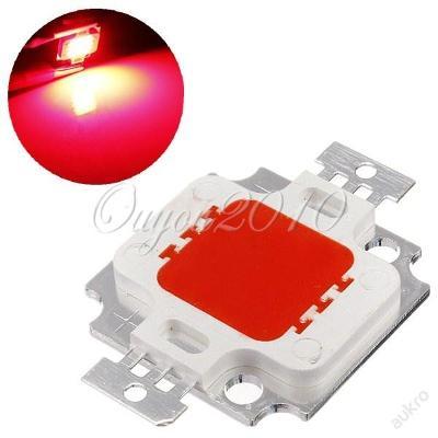 Výkonná 10W LED 625nm  SMD  9-12V červená
