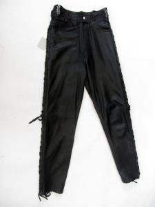 Kožené šněrovací kalhoty vel. 38 - pas:70cm