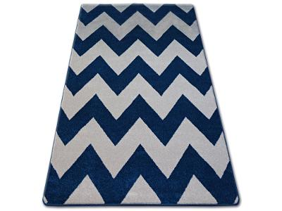KOBEREC SKETCH 180x270 cm ZYGZAK modrý #GR2476