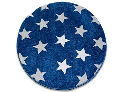 KOBEREC SKETCH 140 cm kruh STARS modrý #GR2488