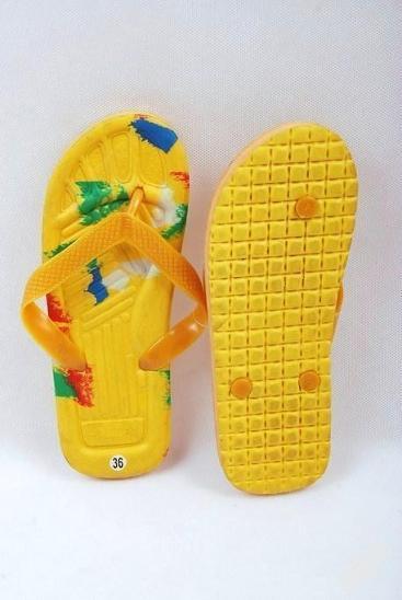 Plážové žabky žluté , vel. 36 ( 0976 ) - Dámské boty