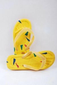 Plážové žabky žluté , vel. 38 ( 0977 )