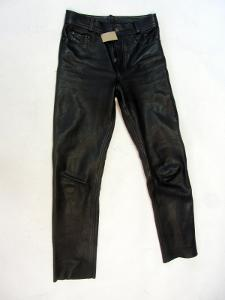 Kožené kalhoty vel. 29 pas:74cm silná kůže -(841