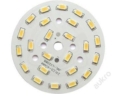 LED destička 24x SMD 5730 12W 1080Lm (=100W) teplá