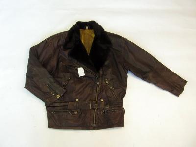Kožená dámská delší bunda vel. 38 - (7506)