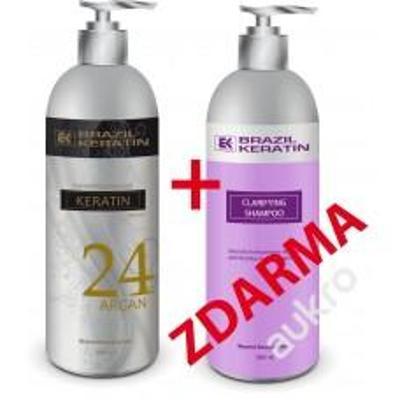 BK KERATIN* KERATIN ARGAN*24H*AKCE*1000ml+šampon