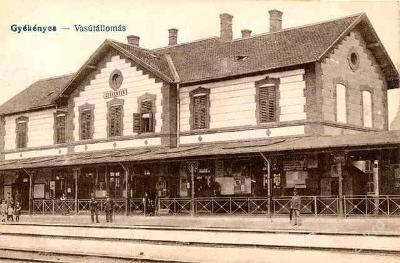Maďarsko ,Gyékényes - nádraží