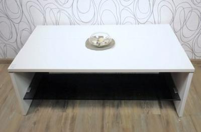 Konferenční stolek, dřevolaminát/ sklo (14767A) ES