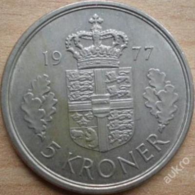 Dánsko 5 Kr 1977