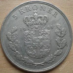 Dánsko 5 Kr 1968