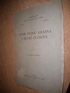 Novák - Vznik pojmu krásna v řecké filosofii 1932