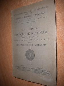 Velinský - Psychologie pozornosti - 1938