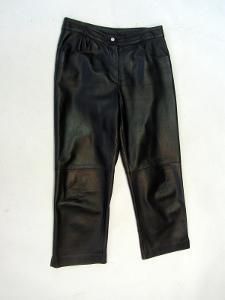 Kožené kalhoty vel. 38 obvod pasu: 74 cm (8859)