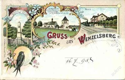 Václavice , Wenzelsberg  1898 - Náchod