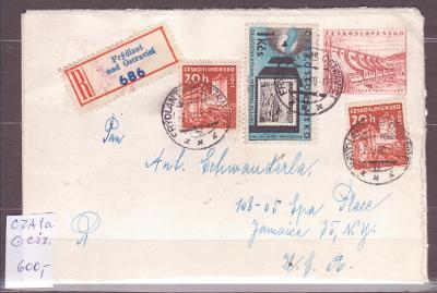 Československo CZA1a, prošlá R-Frýdlant n.O.do USA