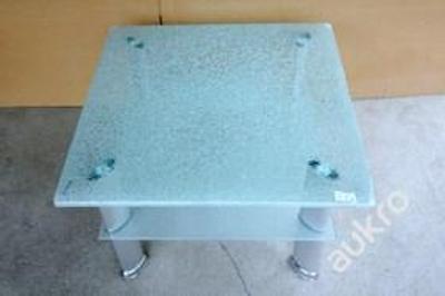 Konferenční stolek sklo/ kov, design (8412)