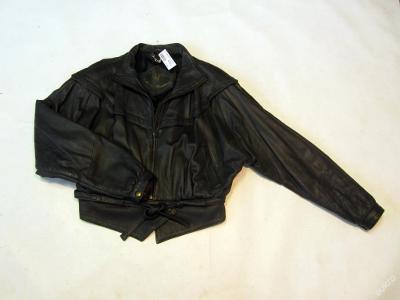 Dámská kožená bunda vel. 40 - tmavě šedá (6045)