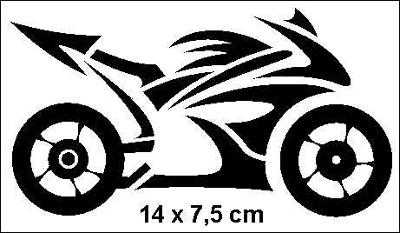 Samolepka motosilnice bok 14x7.5cm