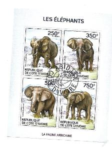 Pobřeží Slonoviny  Mi.1609-12 Sloni
