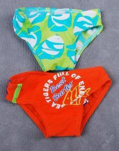 Plavky dětské - 2 kusy , vel. 68/74 - (FO053)
