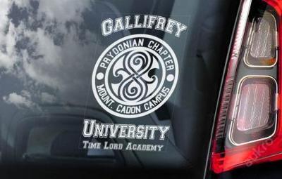 Gallifrey Unive: autonálepka na sklo aj. samolep