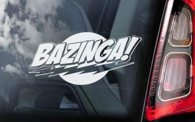 Bazinga - autonálepka na sklo aj. samolepka