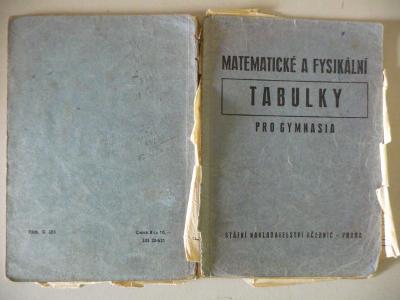 Matematické a fysikální tabulky pro gymnasia 1951