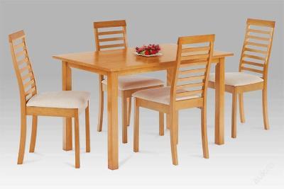 Jídelní set dřevěný stůl + 4 židle GLL-956 olše