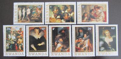 Rwanda 1977 Umění, Rubens Mi# 883-90 1071