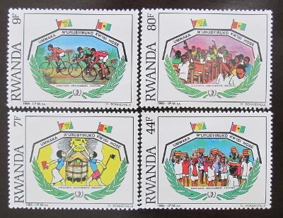 Rwanda 1985 Mezinár. rok mládeže Mi# 1314-17 1083