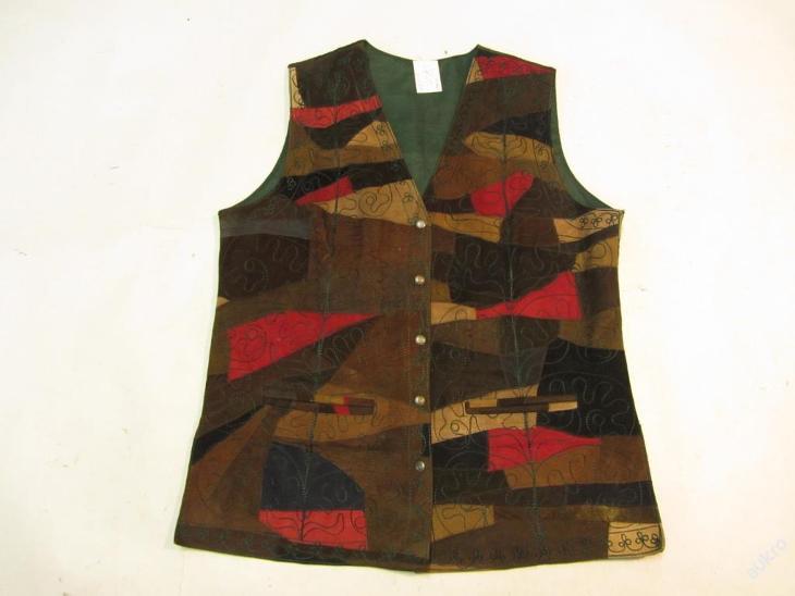 Kožená vesta  - obvod pasu: 122 cm(5763) - Dámské oblečení