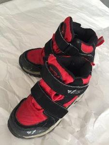 Detske zimni boty zn. WIN-TEX, cerveno-cerne