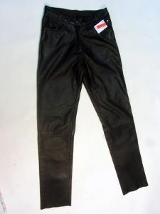 Kožené dámské kalhoty - obvod pasu: 72 cm,  SAFE