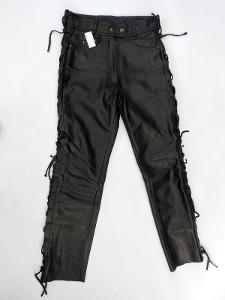 Kožené šněrovací kalhoty vel.42 - pas: 74cm (A03