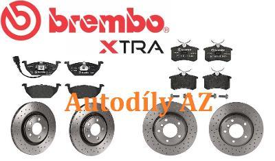 Přední + zadní vrtané kotouče a destičky Škoda Octavia I BREMBO XTRA